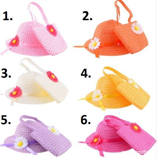 Kapelusz i torebka dostępny w 6 kolorach