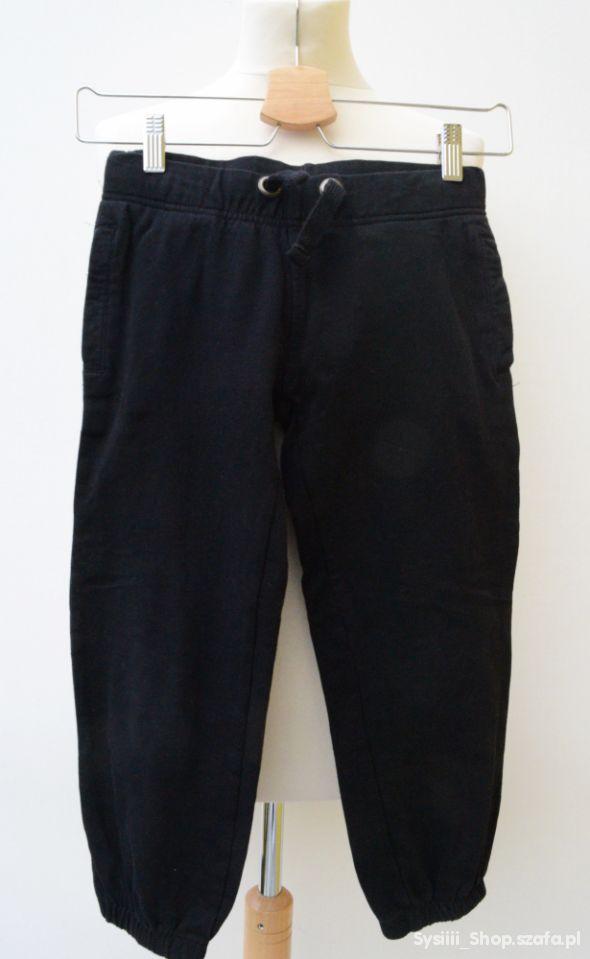 Spodnie Dresy Czarne 134 cm 8 9 lat Dresowe