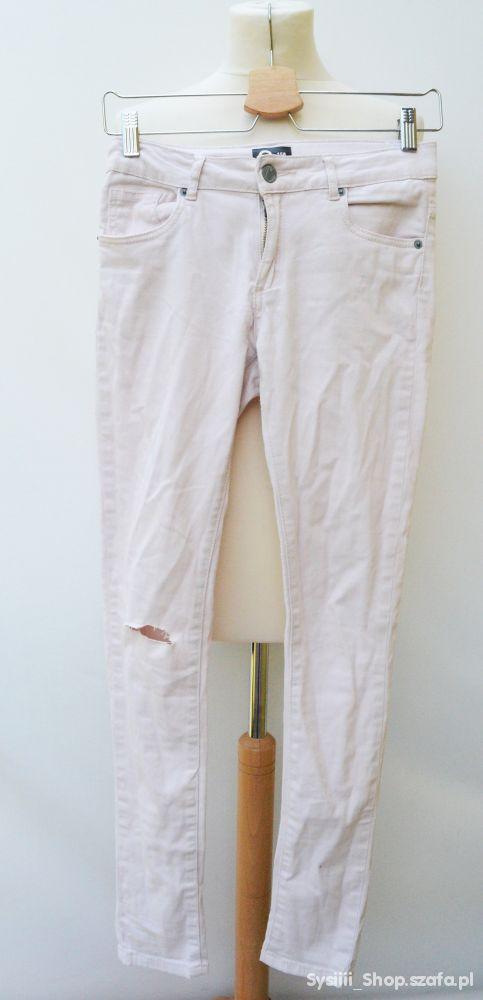 Spodnie Cubus Dziury 158 cm 13 lat Różowe Pastele