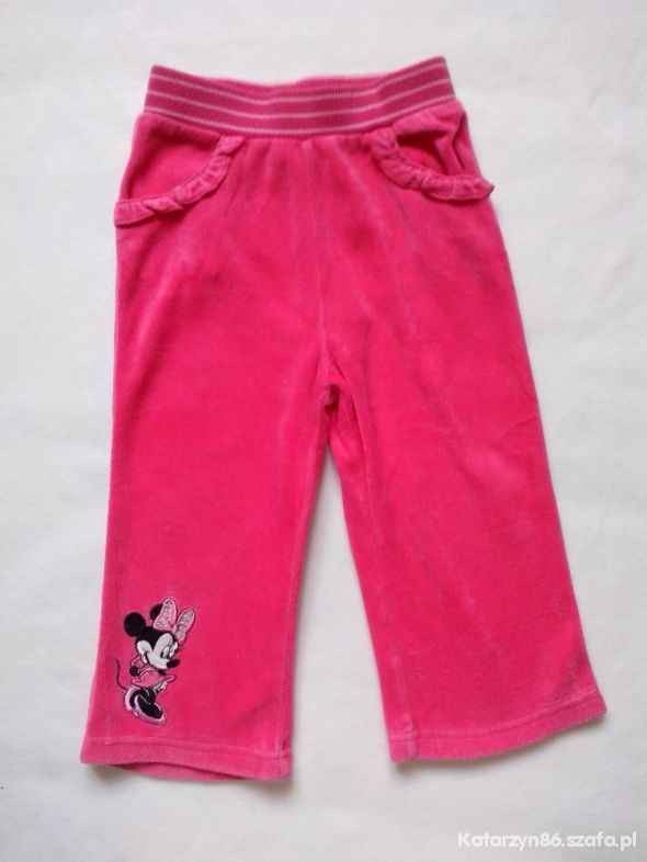 Spodnie dresowe z Minnie 12 18 msc