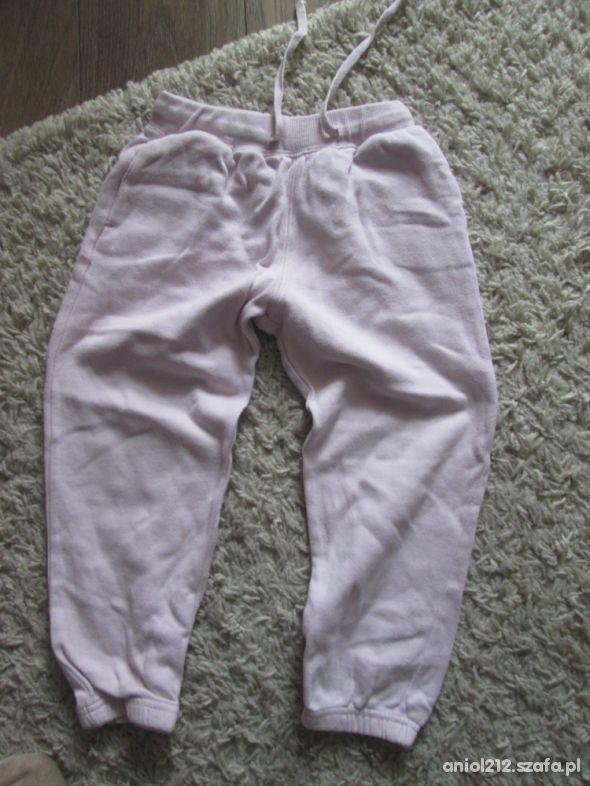 spodnie dres róż 104 110