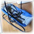 Niebieski leżaczek fotelik kołyska z regulacją