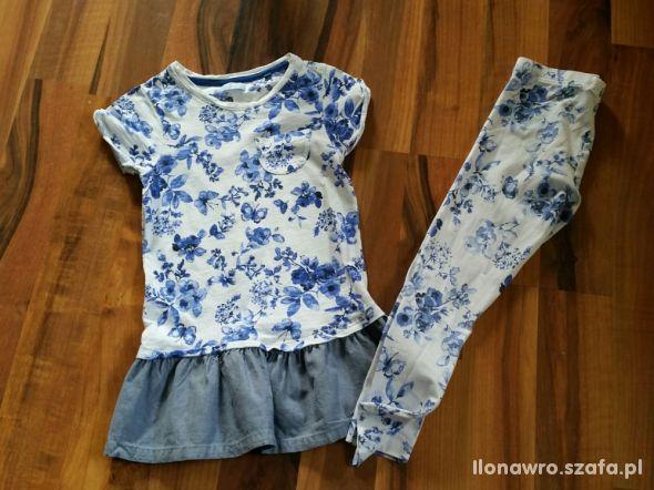 NEXT 7T tunika i legginsy kwiaty