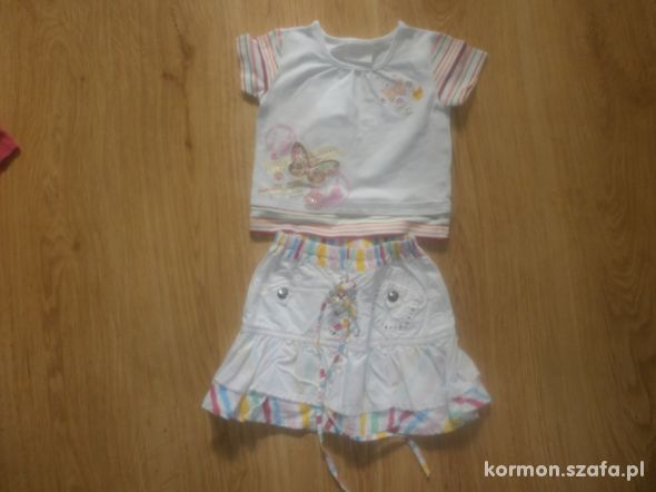 Kpl bluzka ze spódnicą 2 do 3 lat