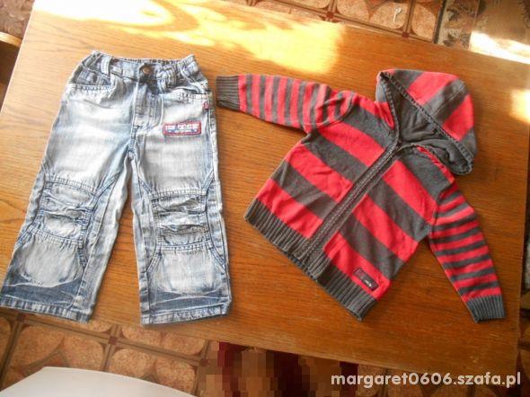 86 92 sweter i spodnie jeans