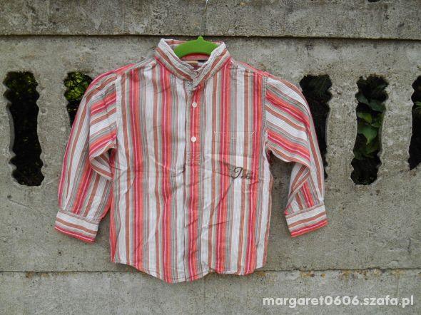 Koszula 110 na 5 lat w czerwone paski