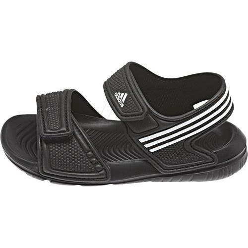 sandałki adidas 28 29 czarne rozowe