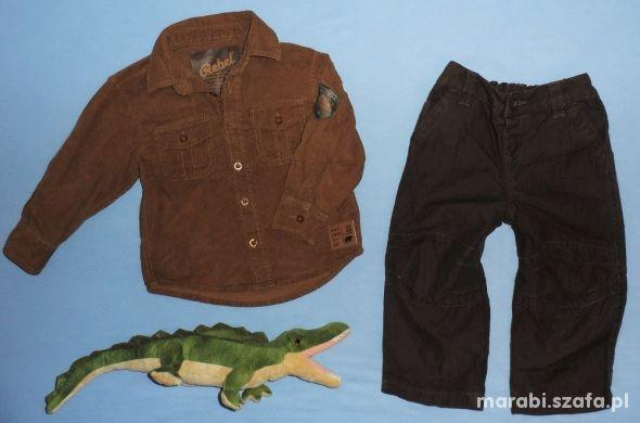 92 Zestaw sztruksowa koszula i spodnie