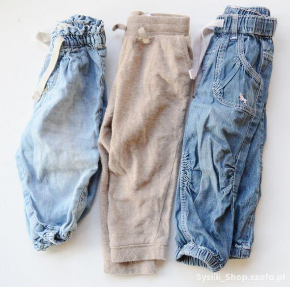 Zestaw Spodni H&M 74 86 cm 12 18 m Dresy Jeans