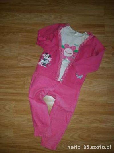 Zestawik dla dziewczynki bluzeczki i spodenki 86cm