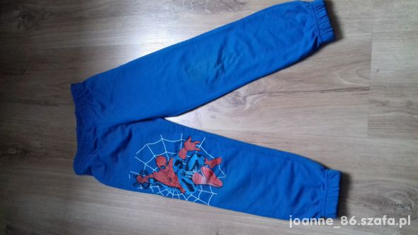 spodnie dresowe spiderman 110 116