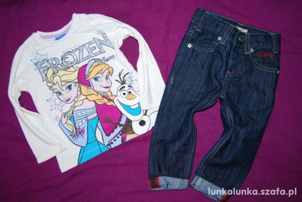 Frozen Kraina Lodu Anna Elza Olaf bluzka jeansy 18