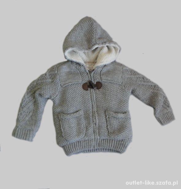 Szary sweter kurtka Zara rozm 98