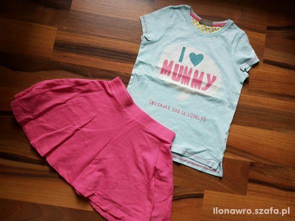 WYPRZEDAŻ 122 Bluzka NEXT spódniczka H&M