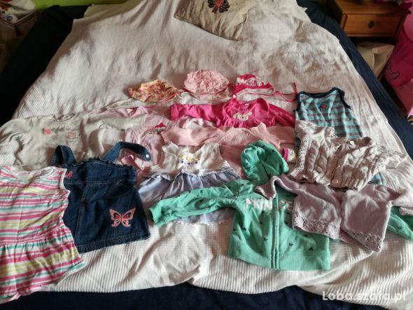 Zestaw ubranek dla dziewczynki 74 92 bdb wiosna