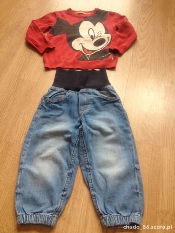 Sweter Miki spodnie jeansowe 92