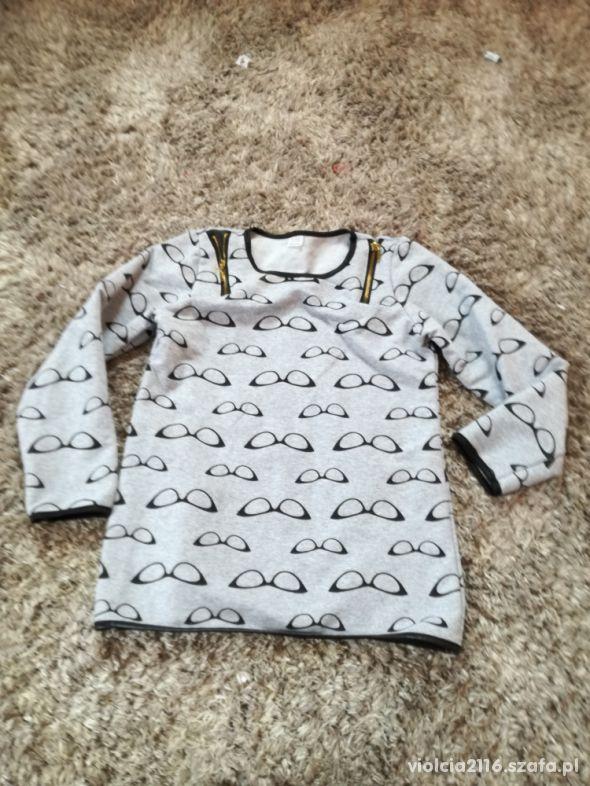 Bluza dla dziewczynki szara 116