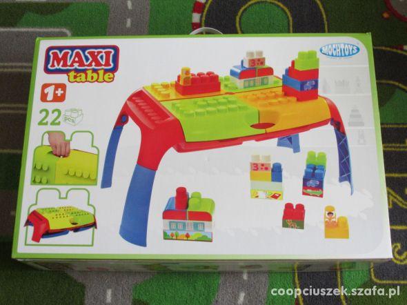 Maxi Table Mochtoys stolik z klockami Nowy