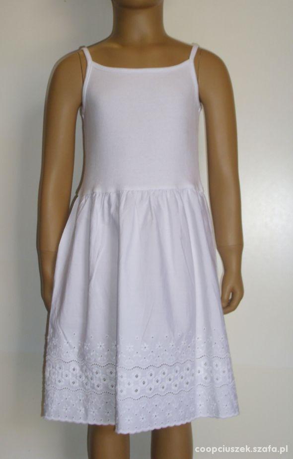 Biała sukieneczka z haftem Hanna Andersson rozm 12