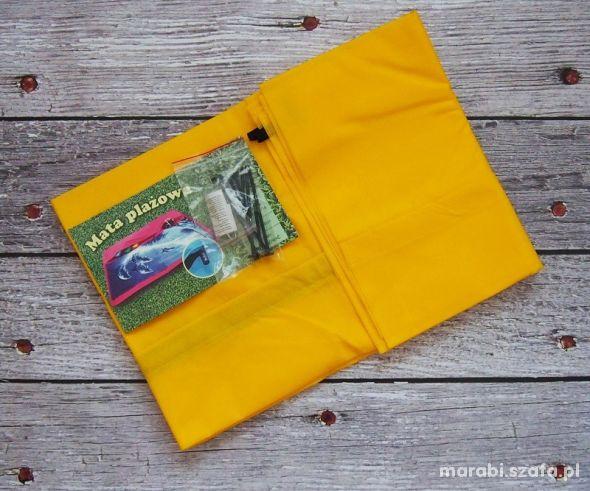 MAKKO Mata na plażę basen i piknik kolor żółty