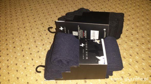 nowy zestaw 3pack rajstopki czarne granatowe 2 3 l