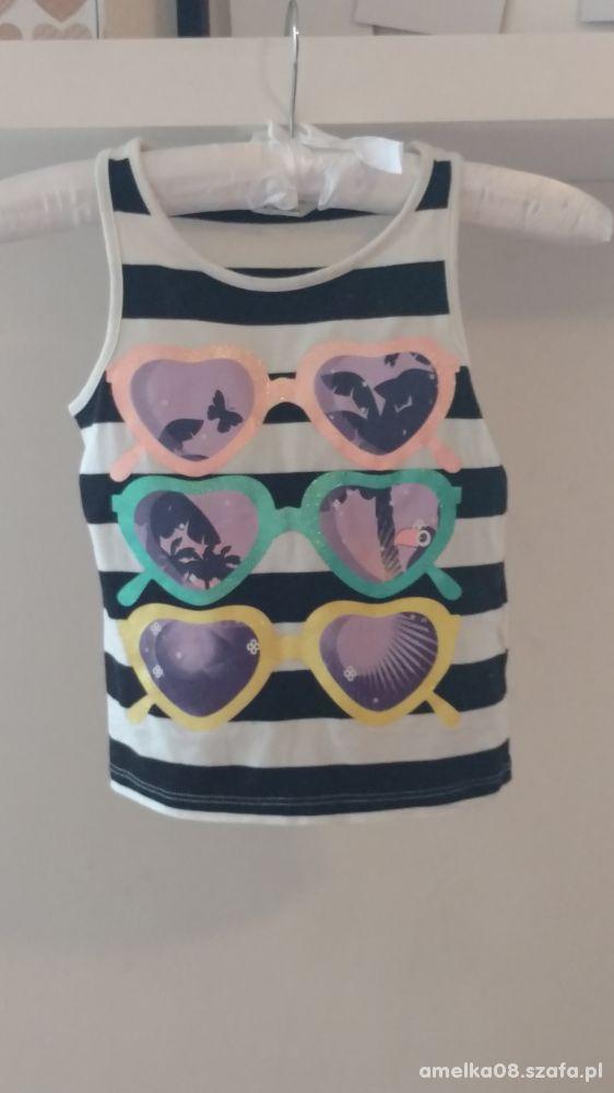 3 kolorowe bluzeczki H&M dla dziewczynki w rozm116