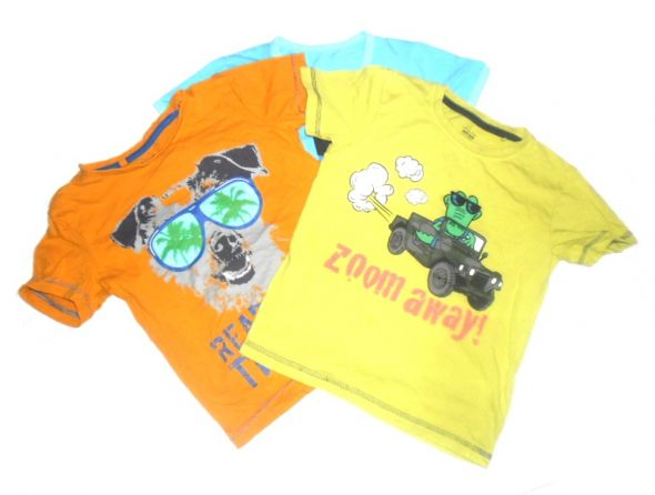 MADSiMETTE 3 koszulki z nadrukiem r 4 6 lat