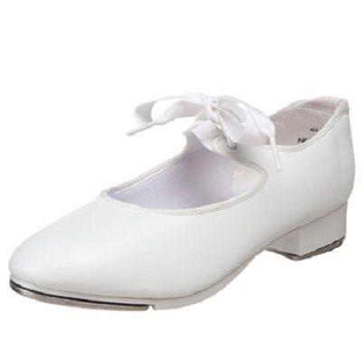 Biale buty do tanca Capezio dla dziewczynki Tap