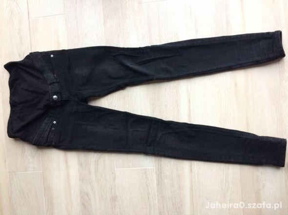 Spodnie ciążowe czarny jeans H&M rozm XS