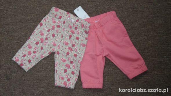 2x NOWE dresowe spodnie FF 0 3m