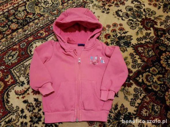 używana różowa bluza z kapturem rozm 80