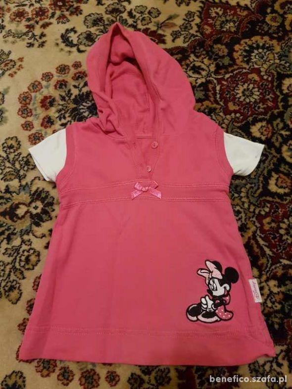różowa tunika z myszką Minnie rozm 80
