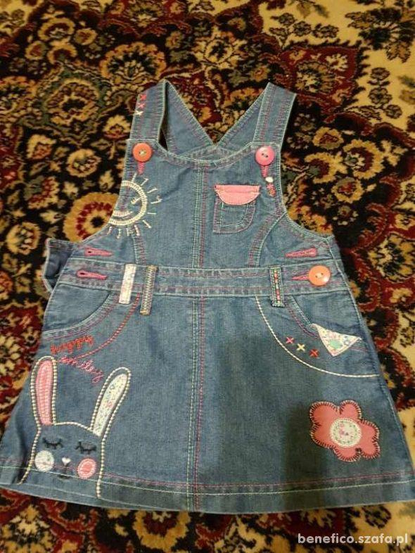 jeansowa sukienka rozm 86