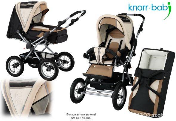 Knorr Baby Europa wózek głęboki i spacerówka