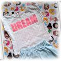 Piżamka miętowa z brokatem 98 j nowa
