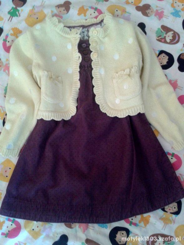 Bershka sukienka i sweterek z falbankami 86 92