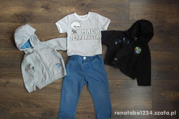 Zestaw Spodnie bluzy bluzka 74 86