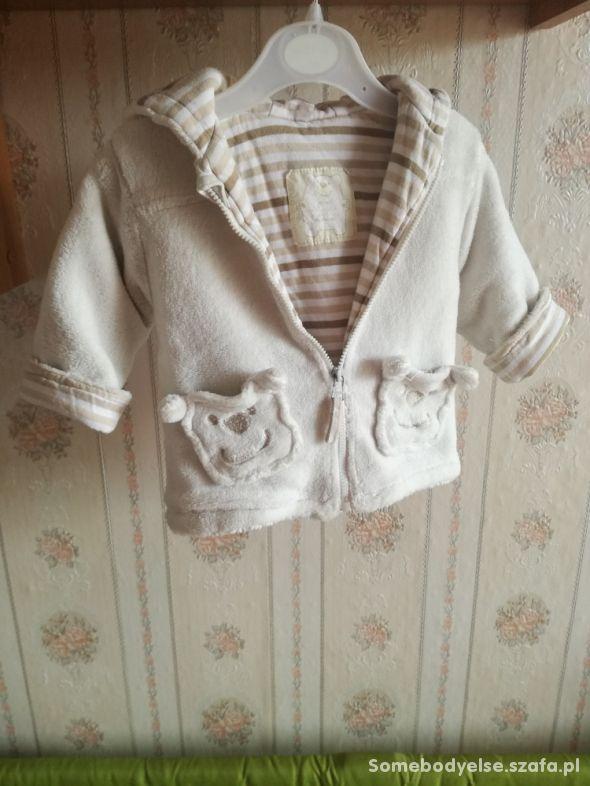 Bluza z kapturem cieplutka dziewczęca rozmiar 68