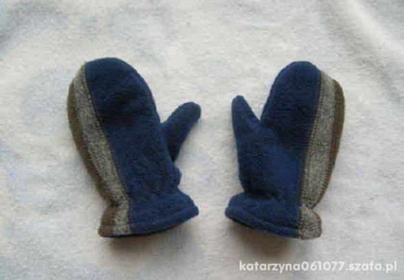polarowe ciepłe rękawiczki 86 2lata