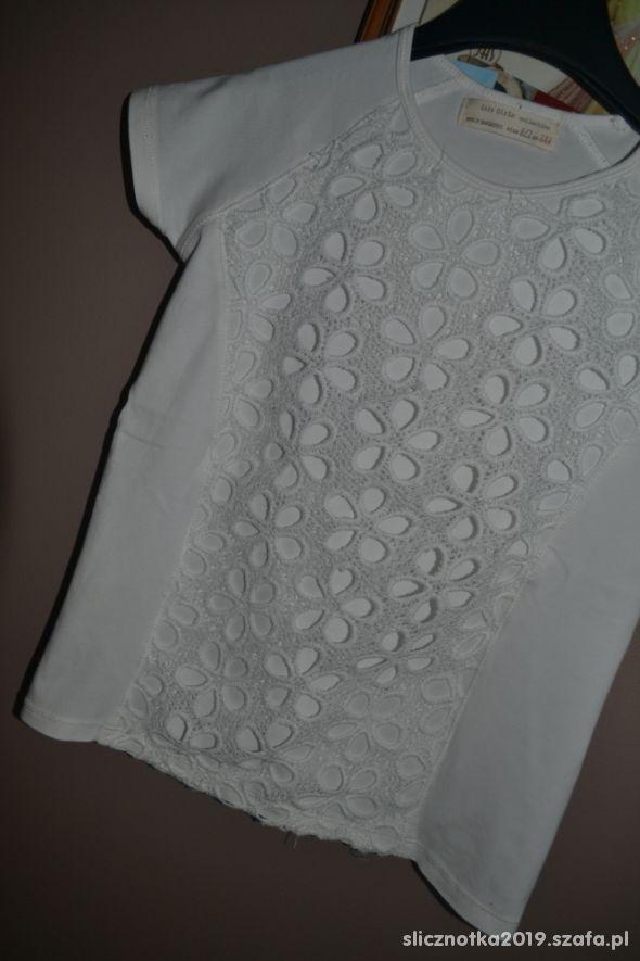 Zara bluzka biała jNowa 122cm 128cm 6 7 8 lat