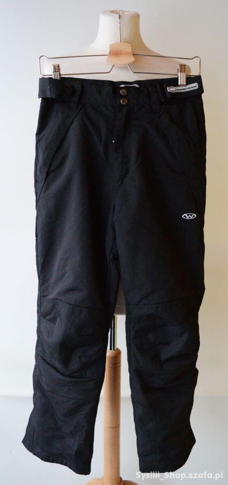 Spodnie Czarne Narciarskie Zimowe 152 cm 11 12 lat