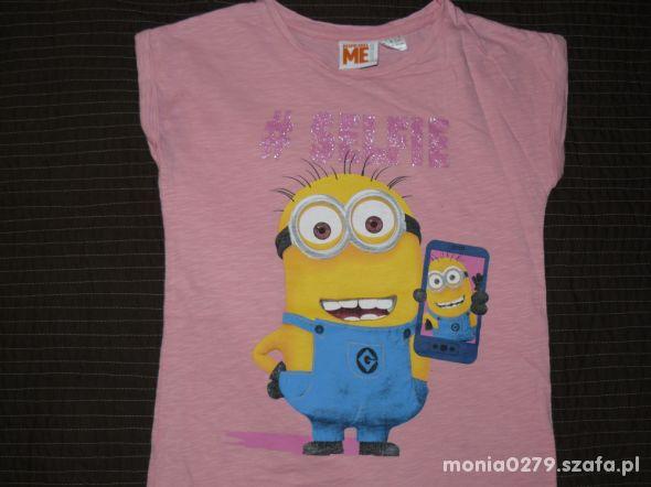 Bawełniana koszulka Minionki 134 140