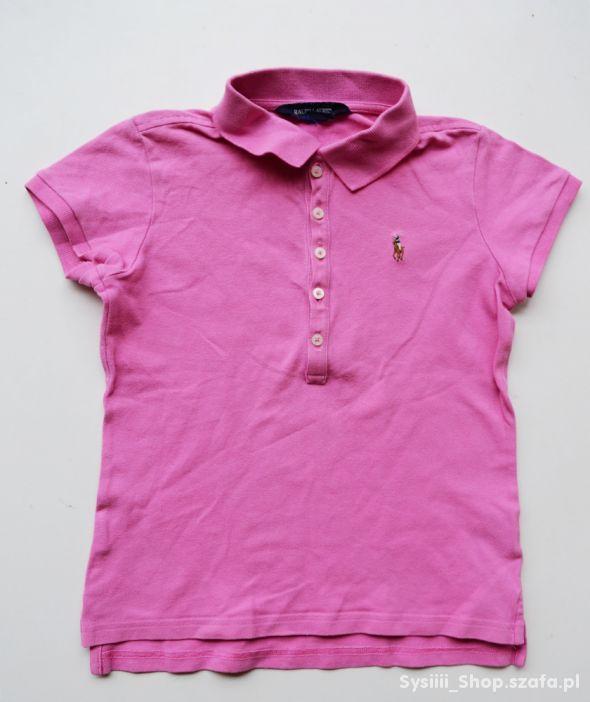 Bluzka T Shirt Ralph Lauren Różowy 8 10 lat 134 14
