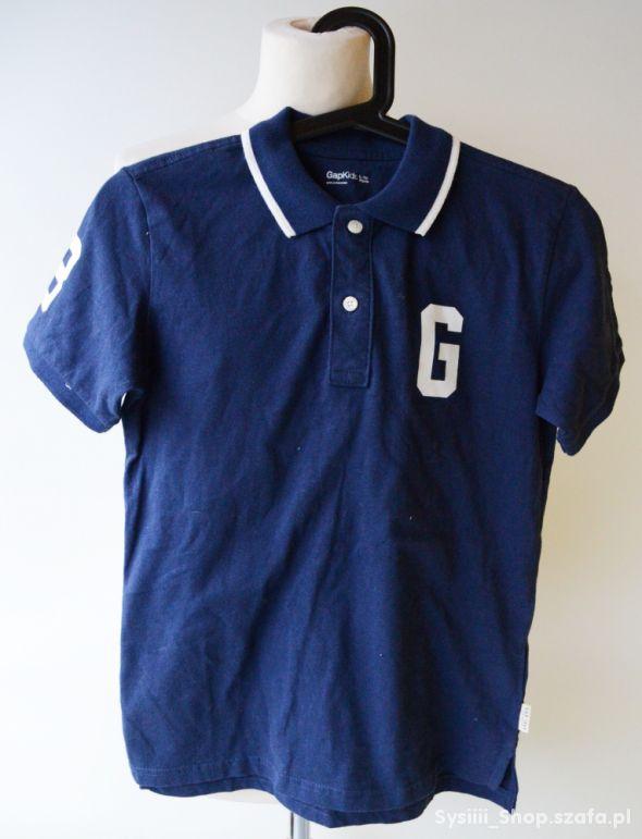 Bluzka T Shirt Granatowa GAP Kids 10 lat 140 cm