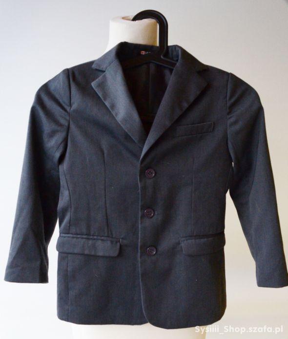 Zestaw Garnitur Spodnie Marynarka Szary 116 cm 6 l