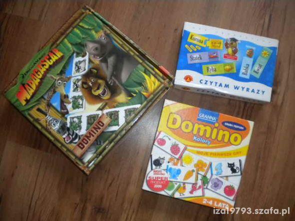 gry planszowe domino czytam wyrazy
