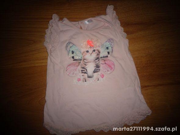 bluzka koszulka pudrowa