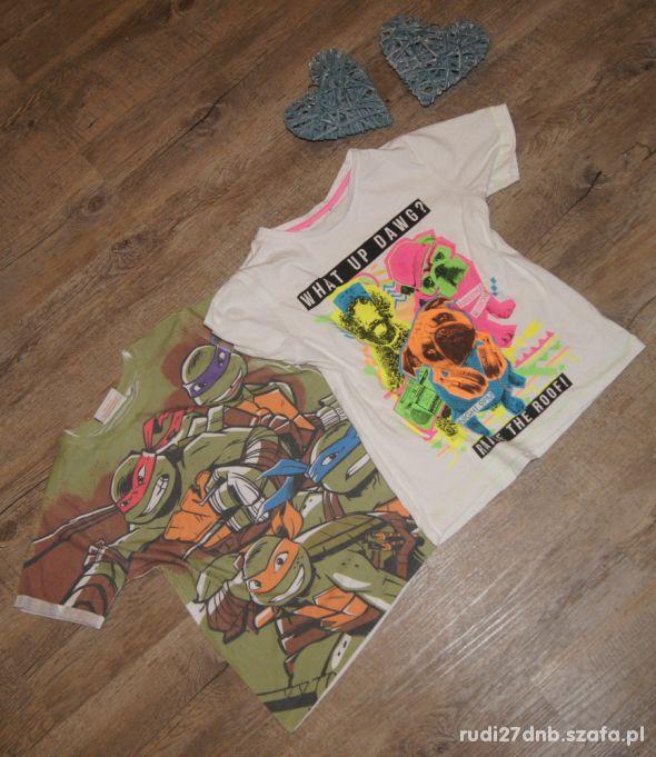 Zestaw chłopiec koszulki Buldog Żółwie Ninja 110
