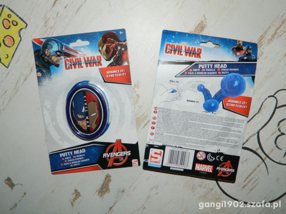 2 sztuki Marvel Kapitan Ameryka Putty Head