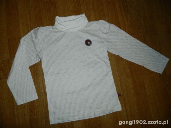 bluzka z golfem paski Minnie roz 122